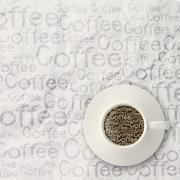 Coffee spilling out of a cup 3d as vintage style Stock Illustration
