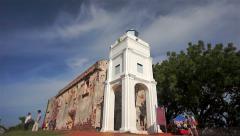 St. Paul's Church in Melaka, Malaysia, 4k time-lapse Stock Footage