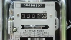 Watt meter, Electricity instrument Stock Footage