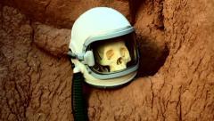 skull dead astronaut 2 - stock footage