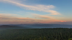 Time Lapse of Clouds and Sky at Sunset from Larch Mountain in Portland Oregon Stock Footage