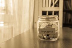emergency savings fund - stock photo