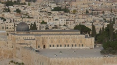 Jerusalem - Old City - Temple Mount - 30P - UHD 4K Stock Footage