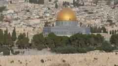 Jerusalem - Old City - Temple Mount -  30P - UHD 4K Stock Footage