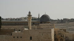 Jerusalem - Old City - Al-Aqsa Mosque - 30P - UHD 4K - stock footage