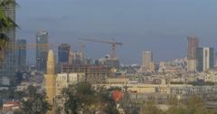 Tel Aviv - Israel - Skyline - 24P - Cinematic DCI 4K - Flat Stock Footage