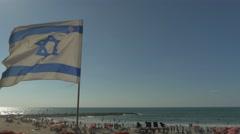 Tel Aviv - Israel - Beach - 25P - UHD 4K - Flat Stock Footage