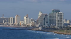 Tel Aviv - Israel - Beachfront View - 30P - UHD 4K Stock Footage