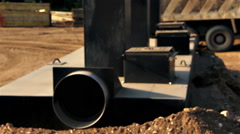 Stock Video Footage of Freeway Construction Oil collector