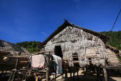 Islander, morgan, tradition house against blue sky Stock Photos