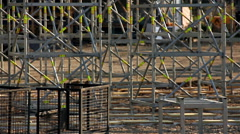 Construction Site Scaffolding Stock Footage