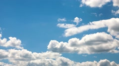 Blue sky with clouds closeup. Timelapse Stock Footage