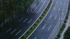 Traffic in wet conditions time lapse 4K Stock Footage