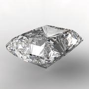 3d square cut diamond on white - stock illustration