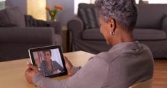 Technology bringing loved ones together Stock Footage