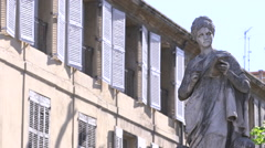WINDOWS, STATUE, AIX EN PROVENCE, FRANCE Stock Footage