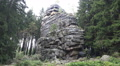 Big rocks monument landscape in low mountain range Harz HD Footage