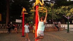 Children doing sports Stock Footage