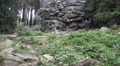 4k Big rocks monument landscape tilt in low mountain range Harz HD Footage