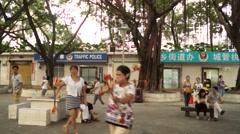 Chinese Fengyang flower drum Stock Footage