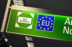 European union customs sign Stock Photos