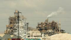 Factory Air Pollution Industry Stock Footage