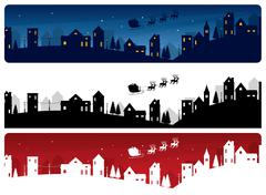 Stock Illustration of christmas eve banners