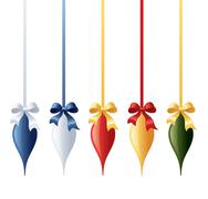 coloured icicle baubles - stock illustration