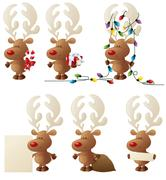 Rudolph in action Stock Illustration