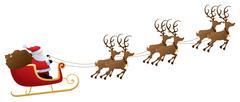 santa's ride - stock illustration