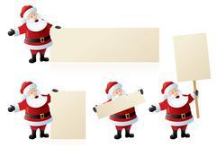 Santa's seasonal signs Stock Illustration
