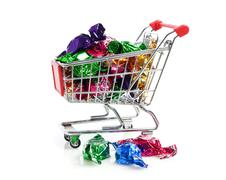 Buying sweets Stock Photos