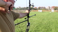 Archer shooting an arrow - stock footage
