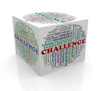 3d cube word tags wordcloud of challenge Piirros