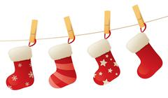 Stockings on a line Stock Illustration