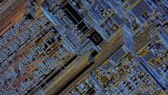 Inside the chip. Photolithography the integrated circuit,  topological photomask Stock Footage