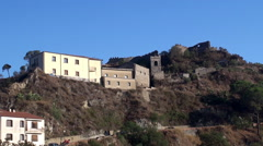 "Types of Savoca village (filming location of ""The Godfather""). Sicily Stock Footage"