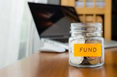 Investment fund saving plan Stock Photos