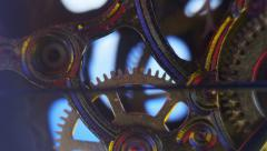Clockwork Gears in Move. Quartz - stock footage