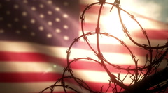 Stock Video Footage of Prisons in the United States of America. 4K seamless loop.