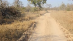 Dusty African Road Stock Footage