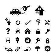 Home key and car key symbol Stock Illustration