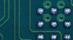 Printed circuit board with tracks and сontacts Stock Footage