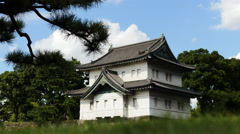 Tokyo Imperial Palace time lapse Japan 4K Stock Footage