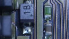 The structure of the printed circuit board Stock Footage