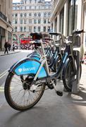London rental bikes Stock Photos