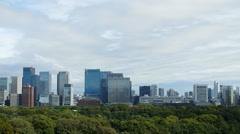 Tokyo skyscrapers in financial district 4K Stock Footage
