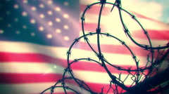 Animation depicting the American prison system. Seamless loop. Stock Footage