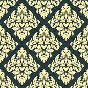 Geometric bold arabesque pattern Stock Illustration