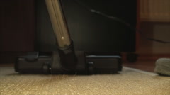 Vacuum Cleaner On A Bamboo Carpet, Cleaning, House, Chore, Super Close Up - stock footage